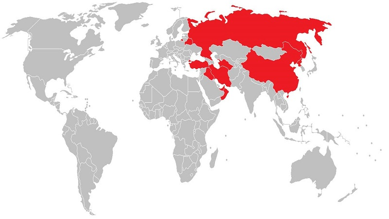 map of countries that ban VPN's